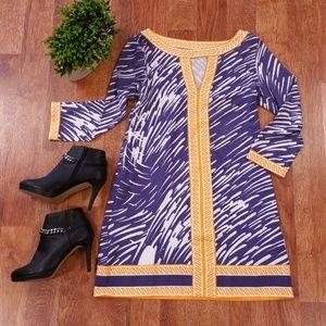Tracy Negoshian Game Day Keyhole Jersey Dress LSU